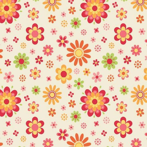 Riley Blake - Just Dreamy - Floral (Cream) Fabric